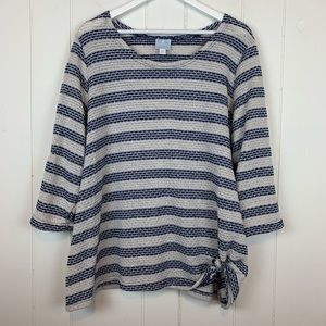 Dressbarn Sunday Sweater 3X Striped